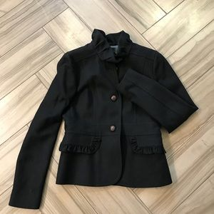 J CREW Ruffled Wool blend Fitted Blazer size 6